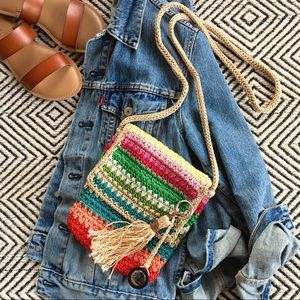 The Sak Woven Multi Colored Stripe Crossbody
